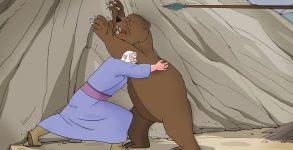 مبارزه پوریا با خرس وحشی